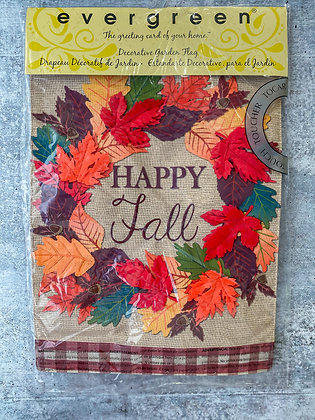 Fall Leaves Wreath Garden Flag