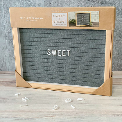 Felt Letter Board - Natural Gray