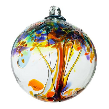 """""""Happiness"""" Tree of Enchantment Glass Ornament"""