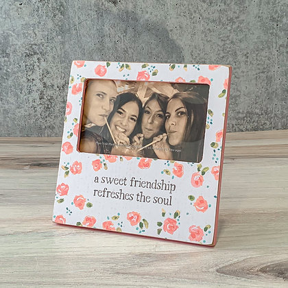 "Plaque Frame - ""A Sweet Friendship Refreshes the Soul"""