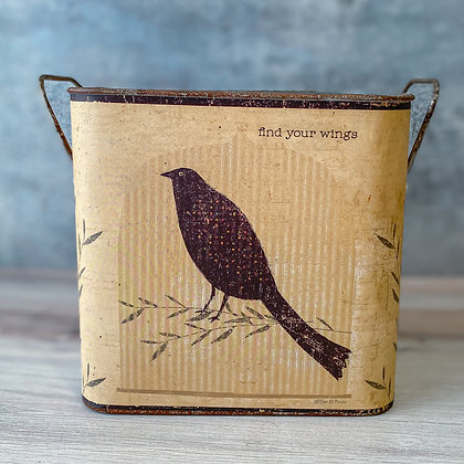 Find Your Wings Tin Bucket