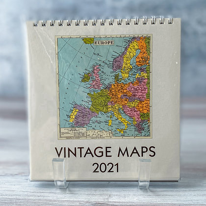 Vintage Maps Desk Calendar