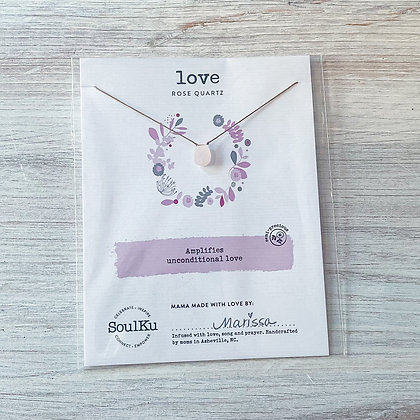Rose Quartz Love Soul-Full Necklace