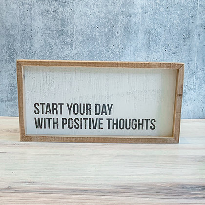 Positive Thoughts Box Sign