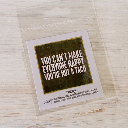 Sticker - You're Not a Taco
