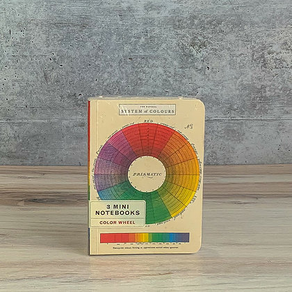 3 Mini Notebooks - Color Wheel
