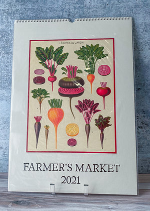 Farmer's Market Wall Calendar - 2021