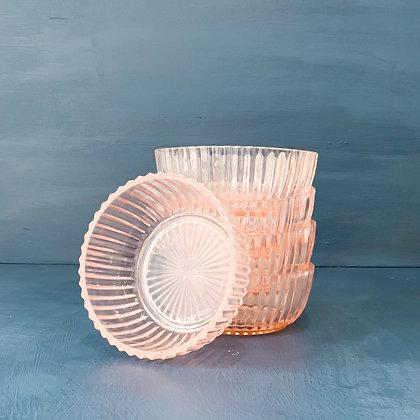 Vintage Pink Depression Glass - Assorted Bowls, Plates & Cups