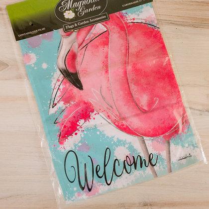 Flamingo Welcome Garden Flag
