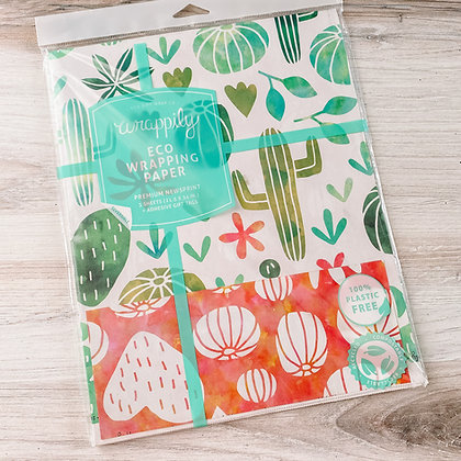 Watercolor Cactus Everyday Wrapping Paper