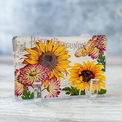 Sunflower Glass Soap Dish
