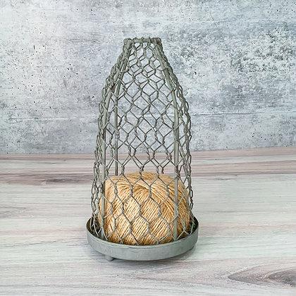 Chicken Wire Cloche with Jute String