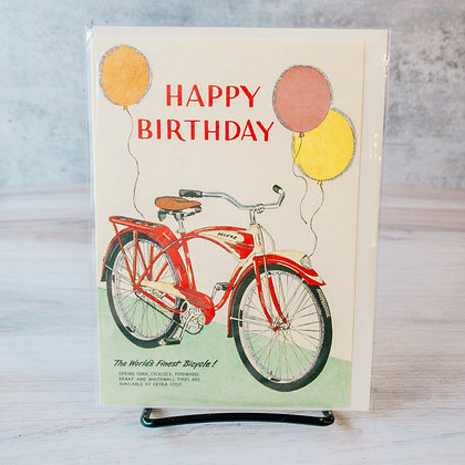 Happy Birthday Card with Bicycle