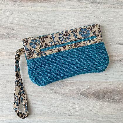 Teal Blue Leyla Wristlet