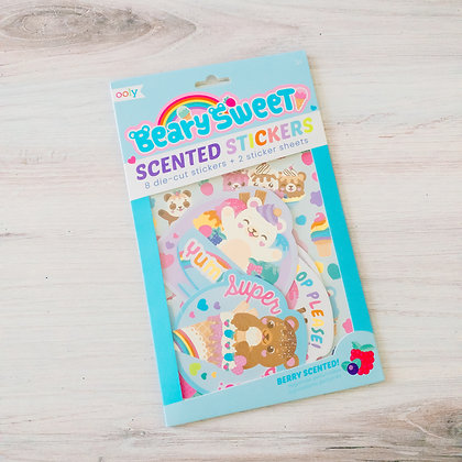 Beary Sweet Scented Stickers