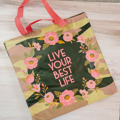 Market Tote - Live Your Best Life