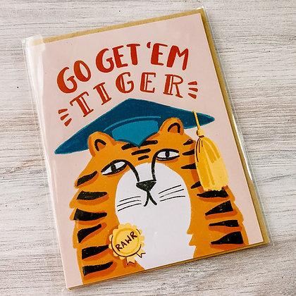 Graduation Card - Go Get'Em Tiger