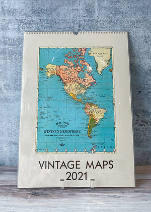 Vintage Maps Wall Calendar - 2021