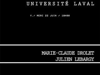 Julien Lebargy & Marie-Claude Drolet - DIFFÉRENTS DEGRÉS