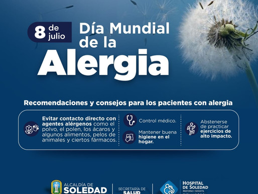 Hospital Materno Infantil de Soledad conmemora el Día Mundial de la Alergia