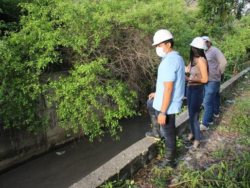 Alcalde de Malambo supervisó limpieza de arroyos en el municipio