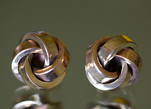 Large Hollow Knot Stud Earrings