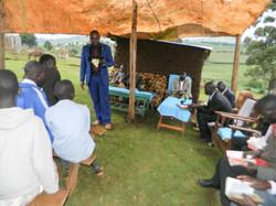 Church tent Western Kenya