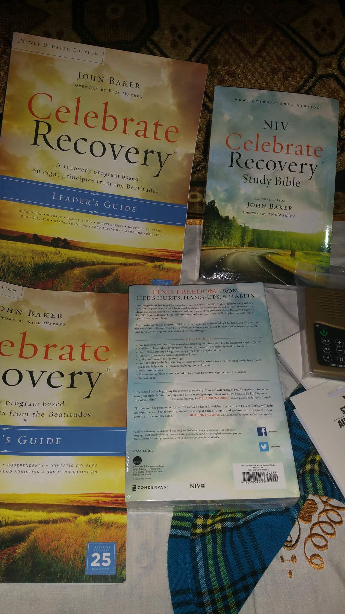 Celebrate Recovery materials