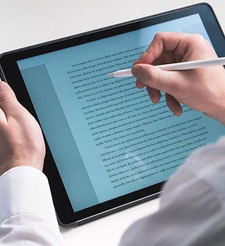 L'écriture sur tablette