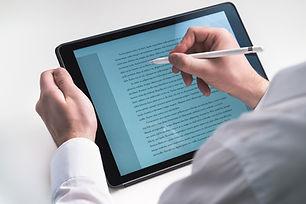 Escrevendo sobre Tablet