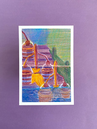 Fantasia Brooms - Print