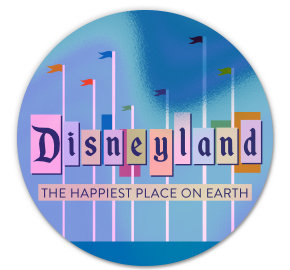 Holographic Disneyland Sticker