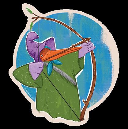 Stork Robin Hood - Sticker