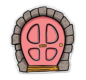 White Rabbit Door - Magnet