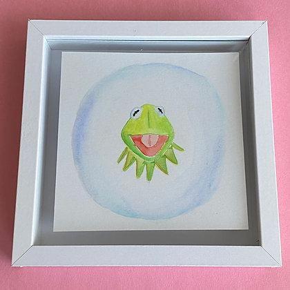 Original Watercolor Painting - Kermit the Frog