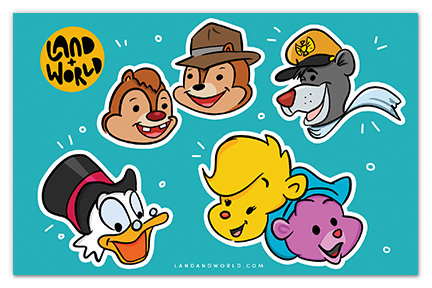 Disney Afternoon Sticker Sheet