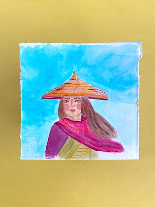 Watercolor Painting - Raya