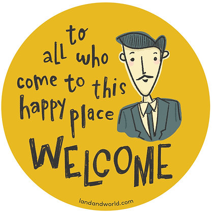 Welcome - Walt Sticker