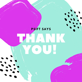 Teal Pink Paint Abstract Thank You Card.
