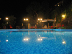 Night view of the swimming pool