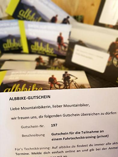 albbike Gutschein Fahrtechnik Tour