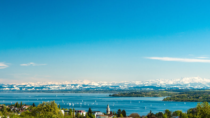 Panoramic view of lake of Lake Constance