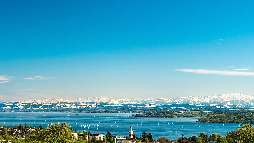 Panoramic view of lake of Lake Constance