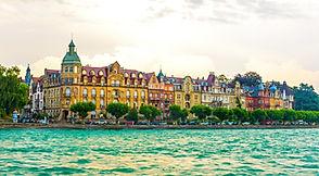 Panorama of the german city Konstanz sit