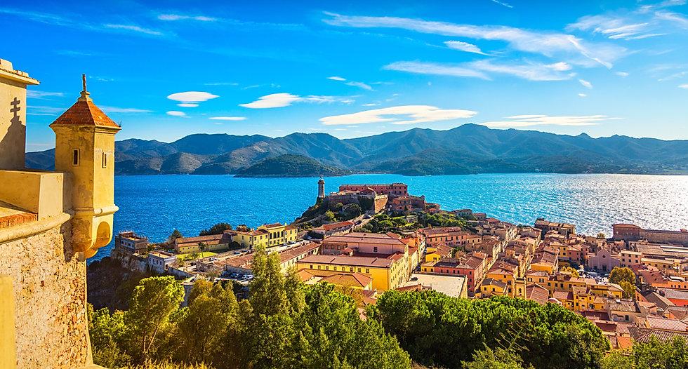 Elba island, Portoferraio aerial view fr
