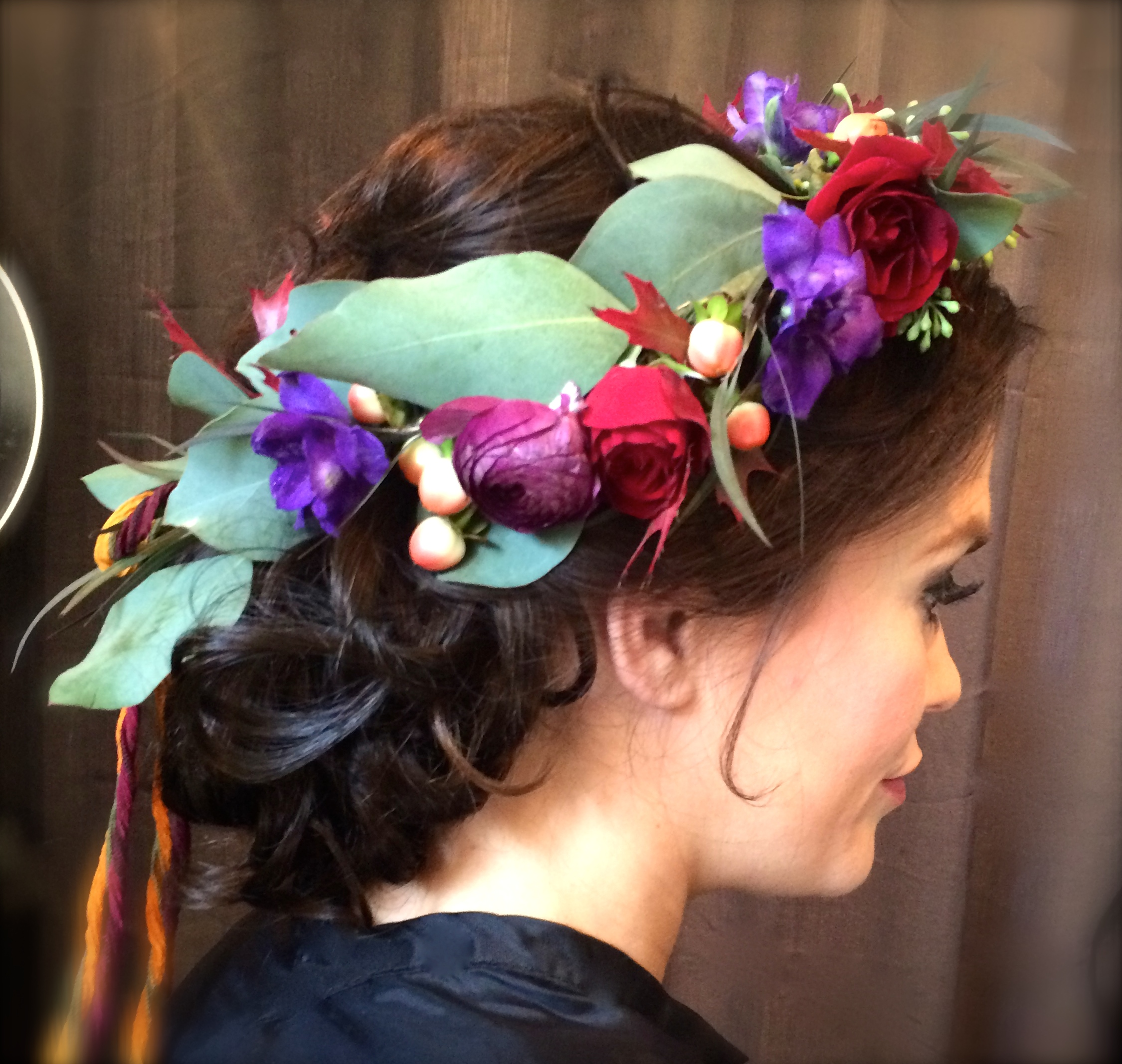 Flower Crown Wedding Hairstyle
