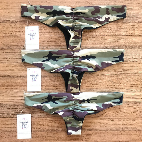 WOODLAND CAMO CHEEKY BOTTOMS