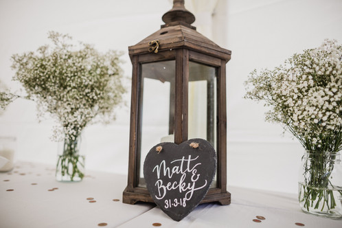 Our rustic lanterns...