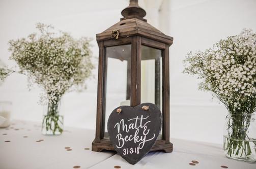Our rustic lanterns...