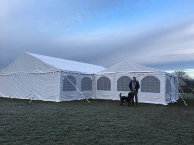 6x6 and 9x12 Frame Marquees joined